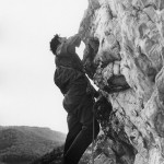Joe Faint climbing at Seneca or Champe rocks early 1960s